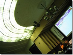 講堂の天井です。なかなか…