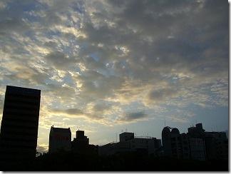 東広島橋から、東の空を撮影