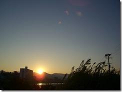 10月に撮影した朝日