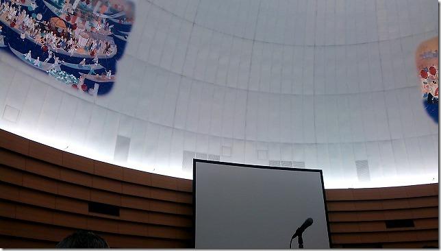 最上階の特別会議場の天井