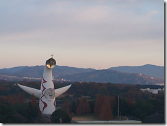 IMJ大阪大会にて宿泊したホテルから太陽の塔を撮影
