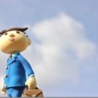サラリーマンと青空