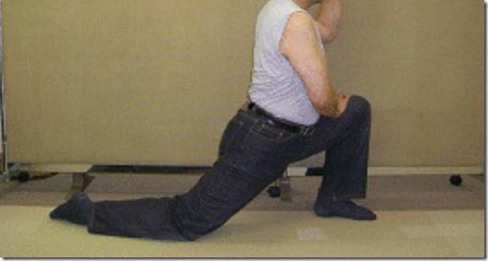 腸腰筋ストレッチ基本形
